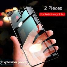 Lainergie עבור Xiaomi Redmi הערה 8 פרו מזג זכוכית מלא דבק 9H הלם הוכחה מסך מגן עבור Redmi note8 הערה 8 פרו זכוכית