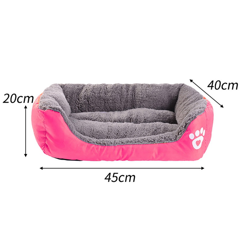 S-3XL 10 Colors Paw Pet Sofa Dog Beds Waterproof Bottom Soft Fleece Warm Cat Bed House Petshop cama perro 12