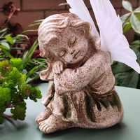 Cute Garden Decoration Solar Landscape Lamps Owl Angel Fox Resin Sculpture Lamp for Courtyard Path Ground Outdoor Light