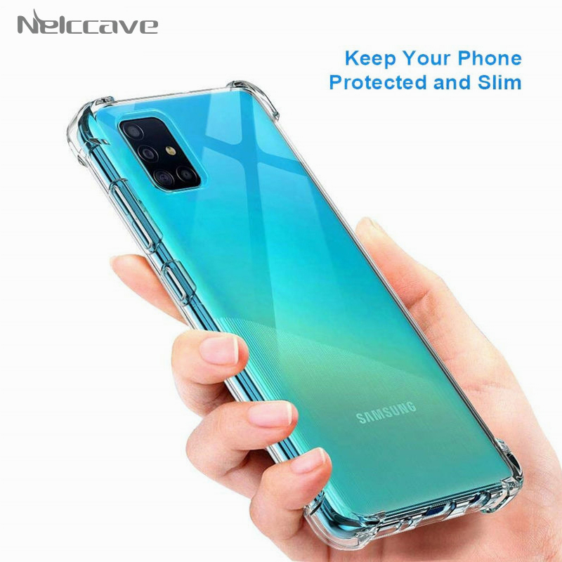 50Pcs Airbag <font><b>Shockproof</b></font> <font><b>Case</b></font> <font><b>For</b></font> <font><b>Samsung</b></font> Galaxy A01 A11 A21 A31 A41 A51 A71 A10 A20 <font><b>A30</b></font> A40 A50 A60 A70 A80 Transparent Cover image