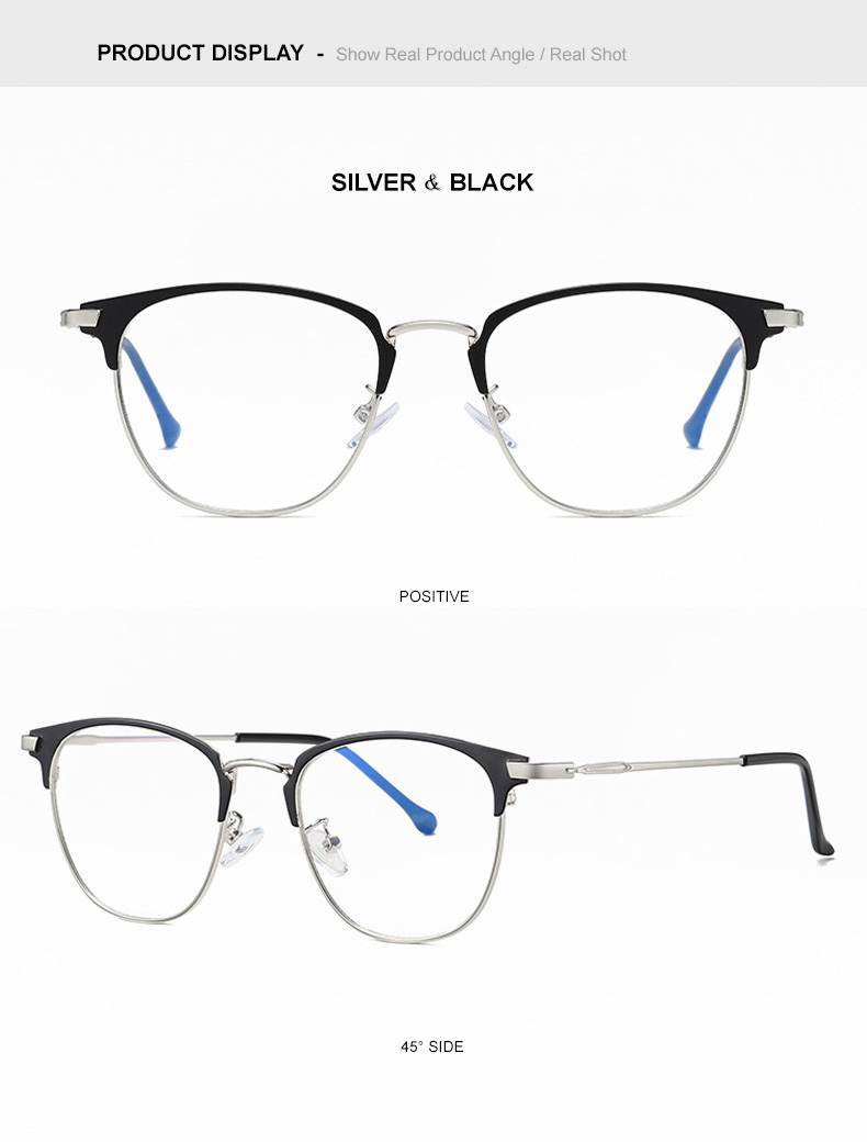 2- Silver & Black
