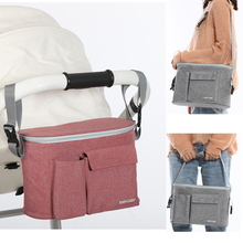 Baby Stroller Organizer Bag Stroller Accessories Mummy Diaper Bag Multifunction Storage Bag Milk Bottle Feeding Pouch Cup Cover