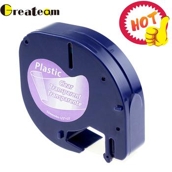 Greateam 91330 12267 91200 91201 12mm czarny na jasne dla Dymo letratag taśma z tworzywa sztucznego LT91201 91203 Dymo drukarka do etykiet dla LT-100H tanie i dobre opinie 110*90 Label Printer 12267 91200 91201 92102 91203 91204 91205 Kompatybilny Wstążka Wstążki drukarki 12mm X4m 12 months