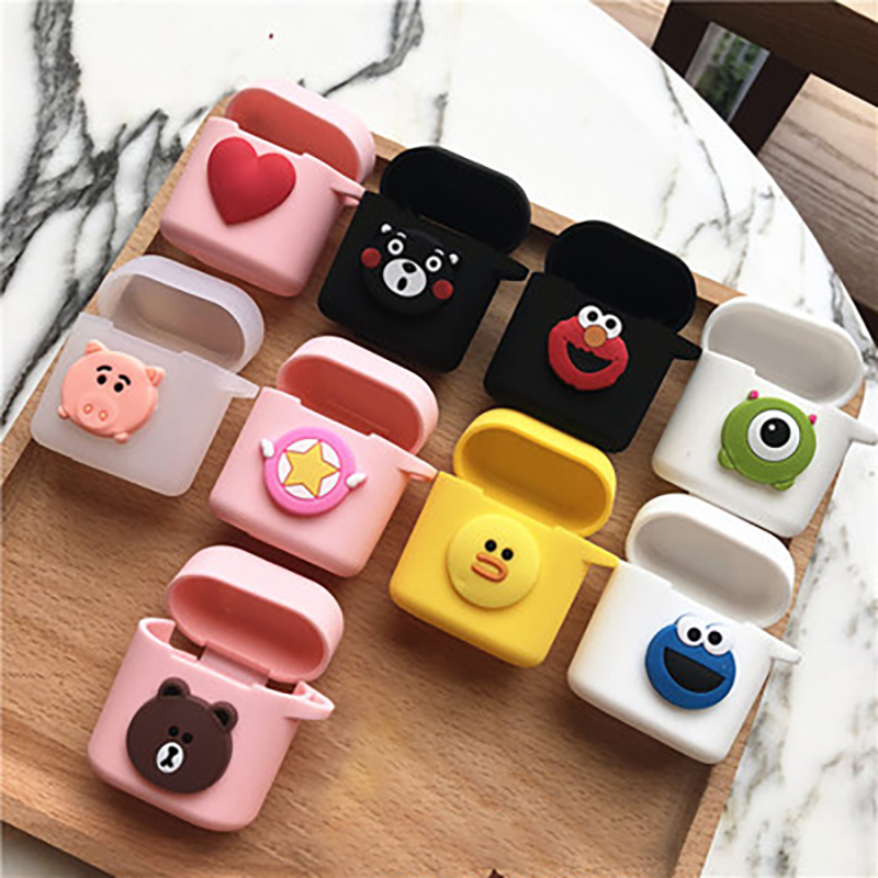 Cartoon Soft Silicone Earphone Cases for Honor FlyPods FlyPods Pro Huawei FreeBuds 2 Pro Charging box Anti slip protective in Earphone Accessories from Consumer Electronics