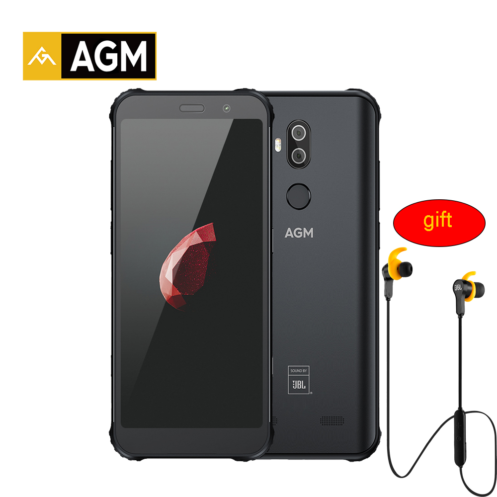 AGM X3 JBL-Cobranding 5.99'' 4G Smartphone 8G+128G SDM845 Android 8.1 IP68 Waterproof Mobile Phone Dual BOX Speaker NFC