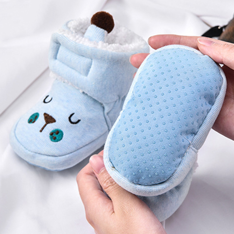 High Quality Baby Shoes Unisex Cotton Warm Winter Anti-fall Cartoon Cozy Newborn Infant Bootie