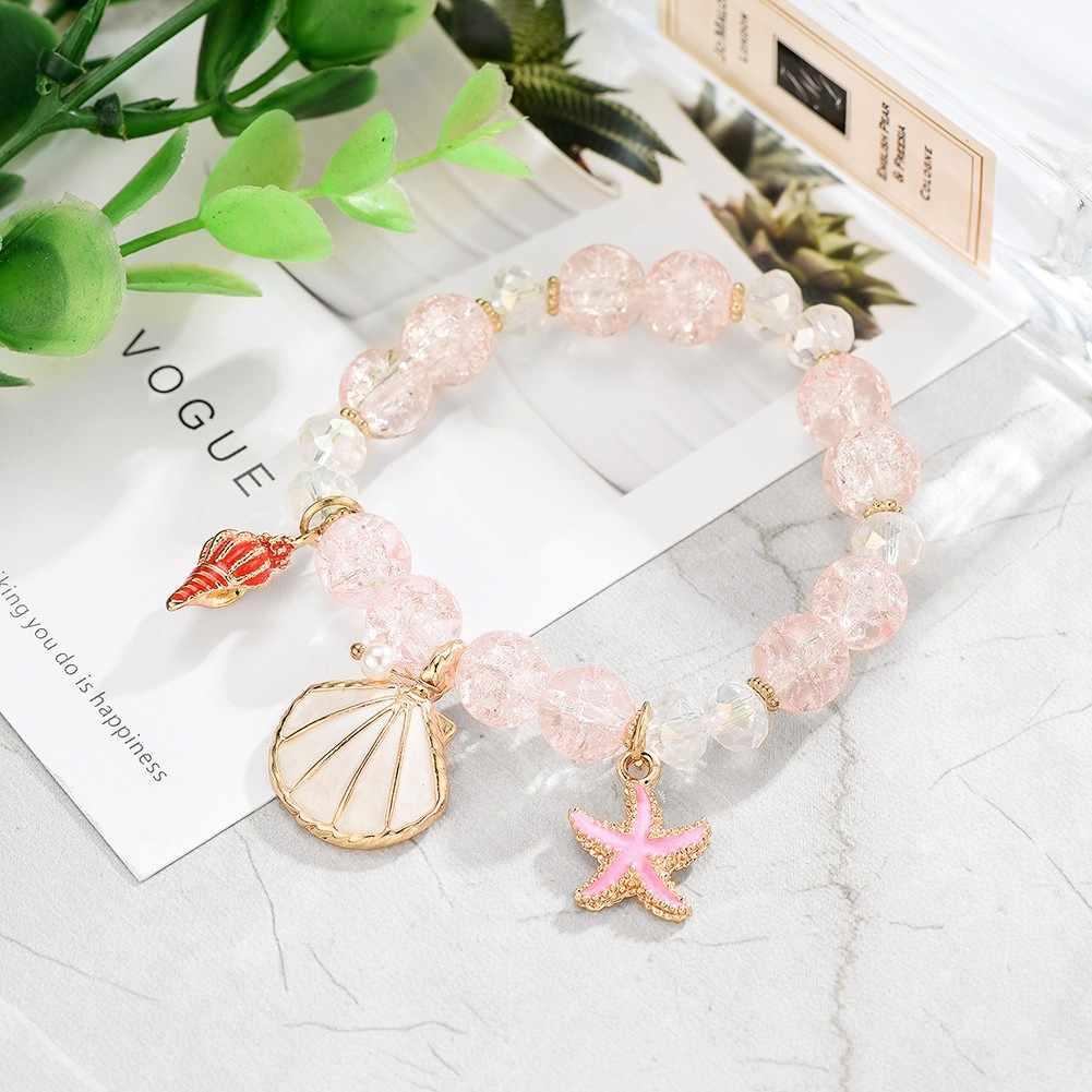 Artículos pequeños colgante pulsera de perlas joyería de moda Bijoux Femme pulseras simples Multi-capa apilada borla pulsera DropShip # ZD