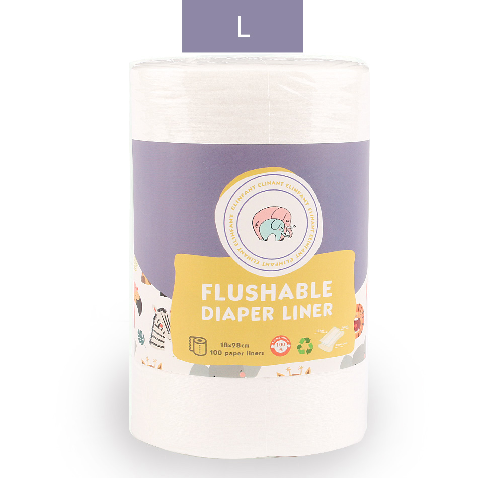 Elinfant 1 roll disposable bamboo flushable baby diaper nappy liner Biodegradable bamboo liner free shipping SMT007