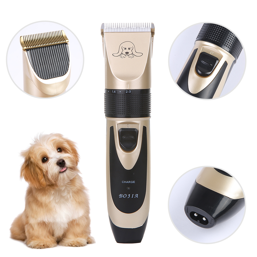 Powerful Electric Dog Hair Trimmer Kit Rechargeable Pet Hair Clipper Pet Dog Cat Grooming Haircut Shaver Machine