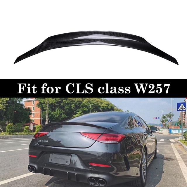 W257 Carbon Spoiler For Mercedes CLS class W257 CLS260 300 320 350 Back Bumper Lip 2019