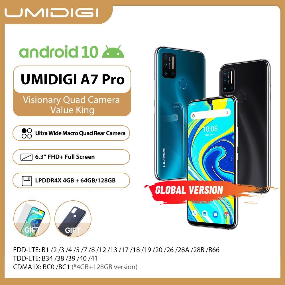UMIDIGI A7 Pro Quad Camera Andriod 10 OS 6,3