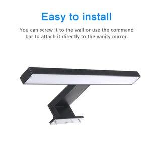 Image 4 - Luz LED de pared para espejo de baño, lámpara de tocador, IP44, blanco neutro, 30cm, 60cm
