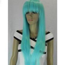 ++01507@Q8++Fashion light blue Liu Haichang straight wig cos