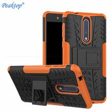 Tough Heavy Duty Back Cover Voor Nokia 8.1 7.1 6.1 5.1 3.1 Plus X7 X6 X5 6 2018 8 5 3 2 1 Hybrid Impact Stand Houder Armor Case