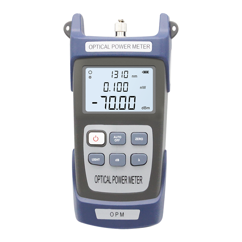 FTTH Optical Power Meter OPM Optic Fiber Cable Tester -70dBm~+10dBm FC/SC/ST Connector