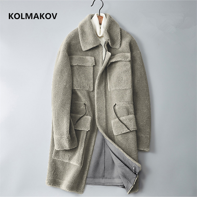 KOLMAKOV 2020 winter Men's Clothing Fashion coats Mens keep warm Windbreakers thicken Mans Trench Coat Size M-3XL Overcoats Men