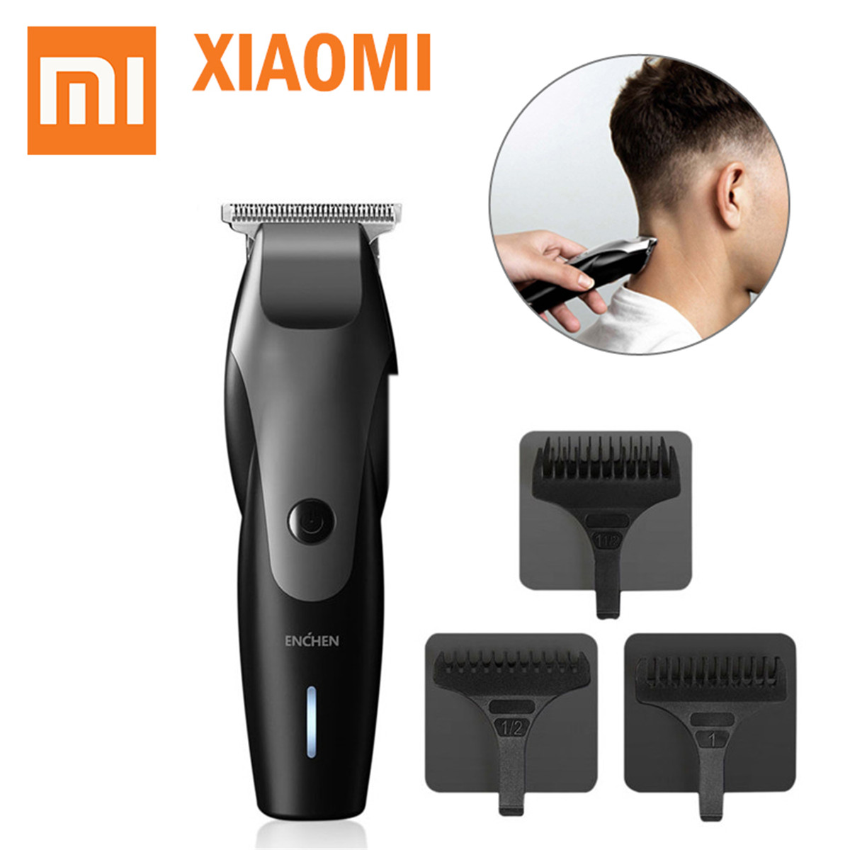 ENCHEN Hummingbird Electric Hair Trimmer USB Charging Low Noise Hair Clipper Digital Haircut With 3 Hair Comb From Xiaomi Youpin