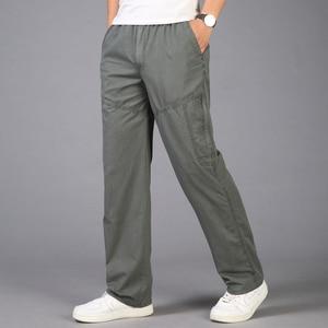 Image 2 - Pantalon Cargo pour hommes, poches 2020, grande taille 5XL, respirant, grande taille, été, droit, Long, collection décontracté