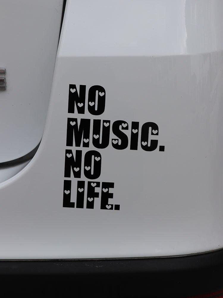 Забавная Виниловая наклейка для автомобиля ZTTZDY, 10 см * 12,8 см, без музыки, без жизни, с защитой от воды