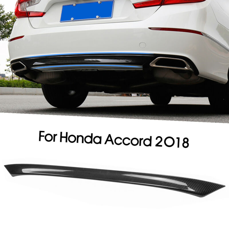 FOR Carbon Fiber Rear Bumper Cover Lip Trim Diffuser Kit For Honda Accord 2018  Decorative tape and strip  Car Body|Car Stickers| |  - title=