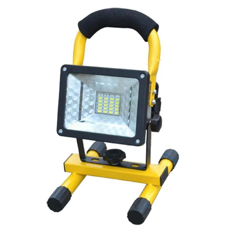 3 modelleri 24 LED projektör taşınabilir 30W şarj edilebilir projektör su geçirmez dış ışık inşaat lambası LED ışık projektör