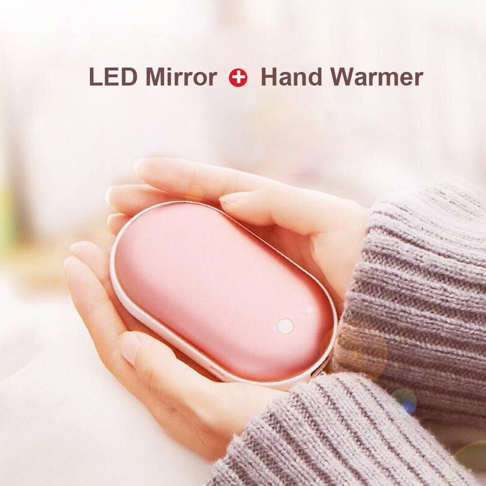 5200mAh 5V Cute And Portable USB Recharge Battery LED Electric Mini Pocket Mini Pocket Hand Warmer Heater Long-Life Travel Home