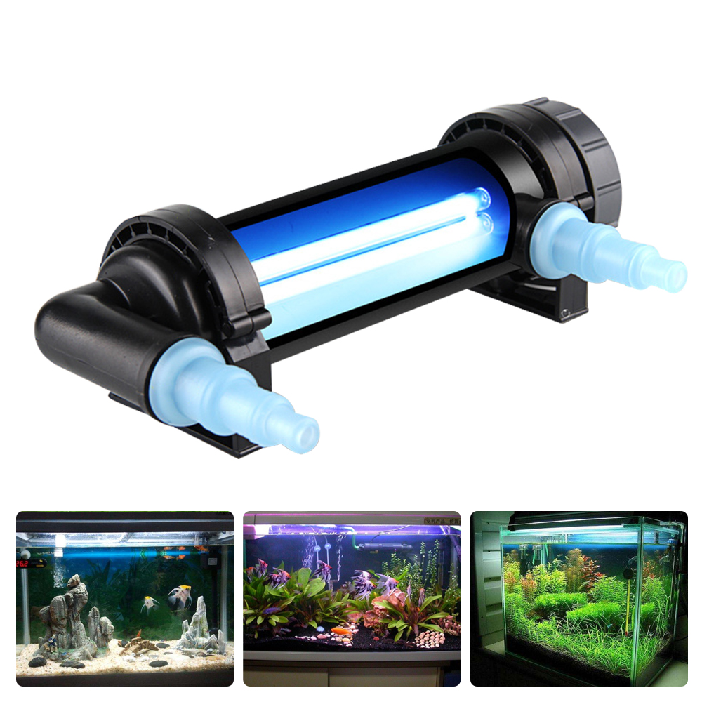 Aquarium UV Sterilizer Light Submersible Water Clean Lamp For Pond Fish Tank 5W~36W Aquarium Diving UV Light EU Plug