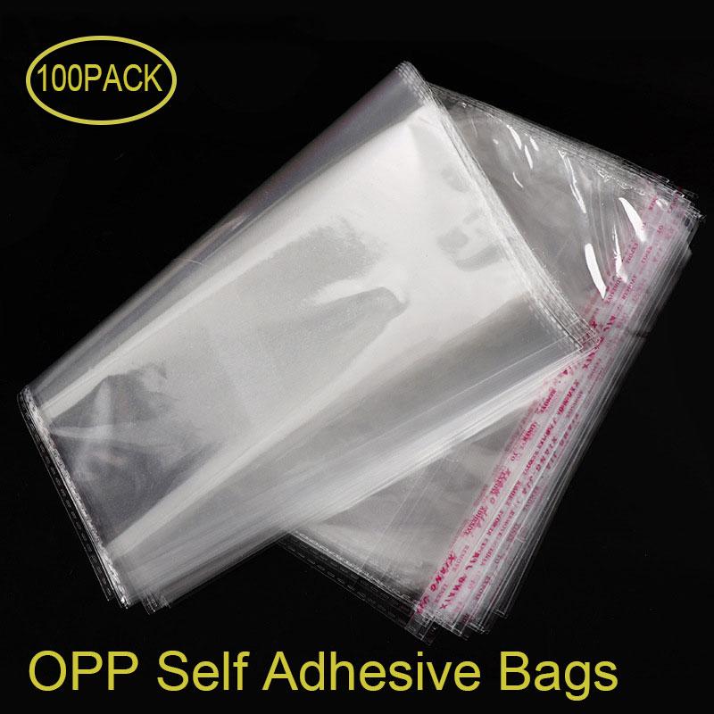 100 шт., самоклеящиеся пластиковые пакеты