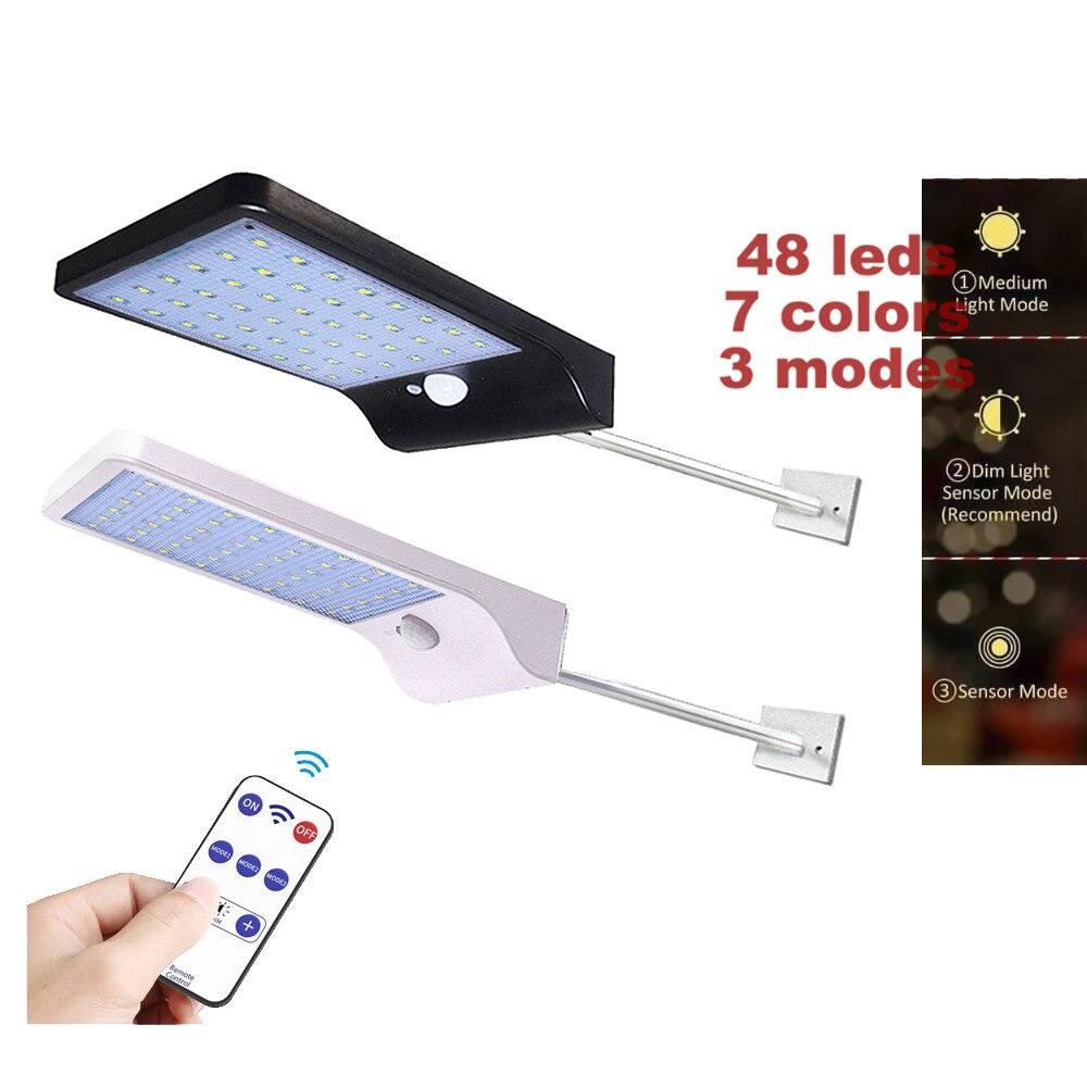 48 LED Solar Light Super Bright Solar Motion Sensor Light Weatherproof Solar Lights Outdoor Wireless Solar Motion Security Light