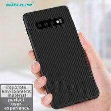 Funda trasera de fibra de carbono para Samsung Galaxy S10 Plus, Nillkin, S10 + S10E