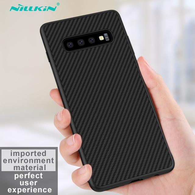 sFor Samsung Galaxy S10 Plus Case Nillkin Synthetic Fiber Carbon Fiber PP Back Cover Case for Samsung Galaxy S10 Plus S10+ S10E