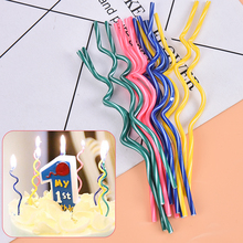 Birthday Candle Party-Supplies Home-Decor Long-Curve Wedding-Cake Flames Safe 2set--16pcs