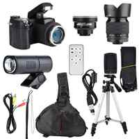 33MP HD D7300 cámara de videocámara lente gran angular + 24X lente de telefoto + LED + conjunto de trípode