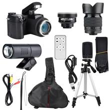 33MP HD D7300 Camcorder Camera Wide Angle Lens + 24X Telephoto Lens + LED + Trip