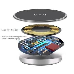 Image 5 - Sạc nhanh Không Dây Cho iPhone11 Pro Max XS XR X 8 Plus Sạc Điện Thoại Nội Thất Văn Phòng Để Bàn Gắn Nhúng Sạc miếng lót