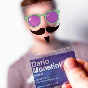 Image 1 - Personalized Free Design Wholesale Custom Printing Transparent Plastic Business PVC ID Cards