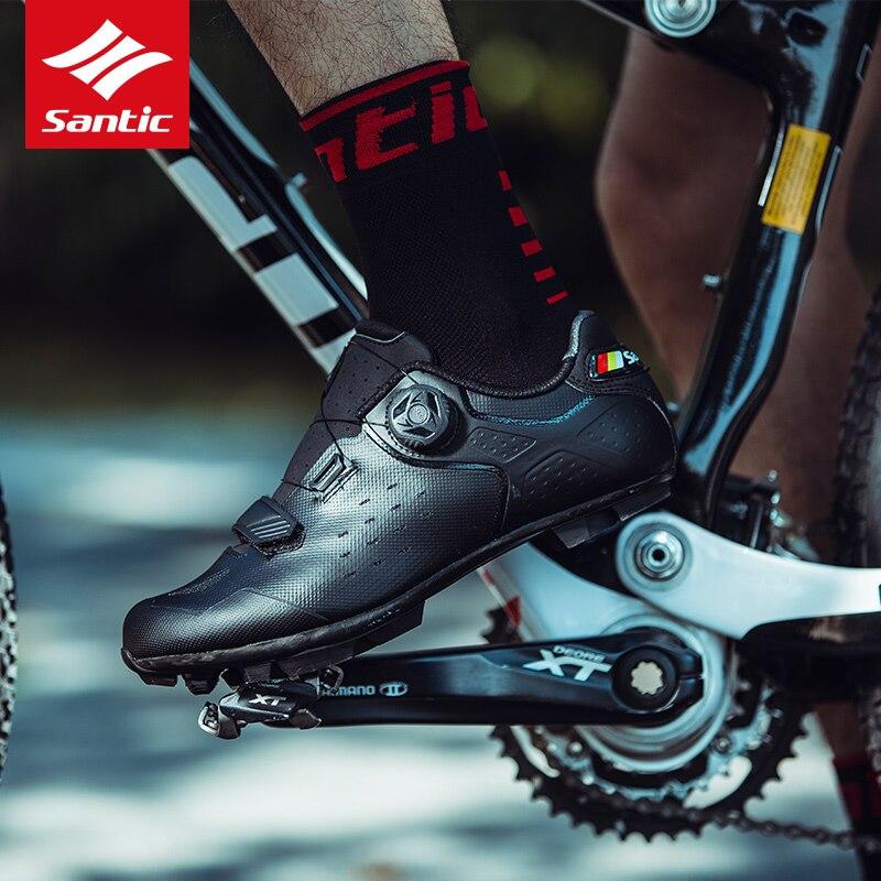 Spor ve Eğlence'ten Bisiklet Ayakkabıları'de Santic 2020 yeni yol bisikleti bisiklet ayakkabı ultralight Anti skid aşınmaya dayanıklı meslek kendini kilitleme ayakkabı açık spor bisiklet title=
