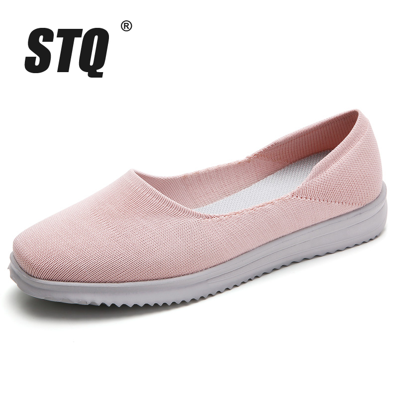 Image 2 - STQ/Женская тканая обувь на плоской подошве; Женские лоферы на плоской подошве; Мокасины без шнуровки на плоской подошве для тенниса; Кроссовки; 7758Обувь без каблука   -