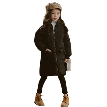 Fashion 2020 winter children's clothing space Sibling outfit jacket girls baby thick long coat jacke