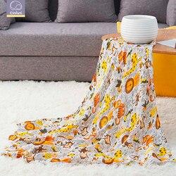 Elinfant муслиновое детское Пеленальное Одеяло для новорожденных, вискозное стрейчевое вязаное обертывание, гамак, пеленание, обивка, обёрточн...