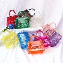 transparent bags for women 2019 clear bag jelly handbag luxury designer handbags high quality crossbody shoulder vintage 2 size