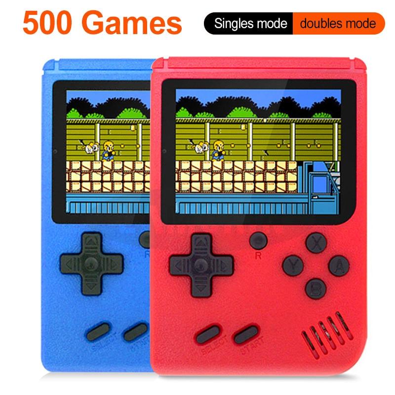 500 recargable en 1 videoconsola de juegos de mano juego Retro Mini reproductor de mano para niños juegos de 500 integrados Juego de cartas de póquer de plástico resistente al agua de Texas Holdem