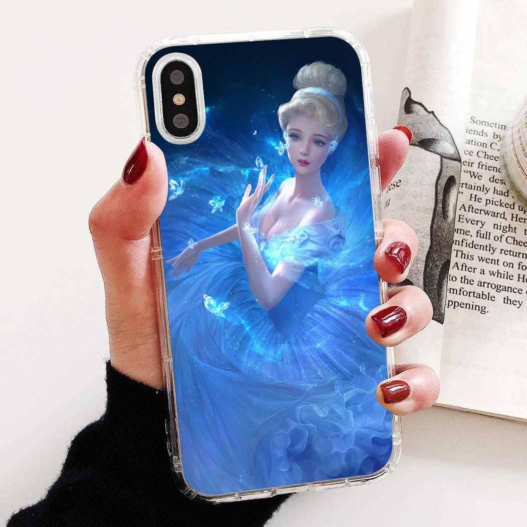 Voor Samsung Galaxy J1 J2 J3 J4 J5 J6 J7 J8 Plus 2018 Prime 2015 2016 2017 Soft Shell Cover prinses Cinderella Glass Slipper