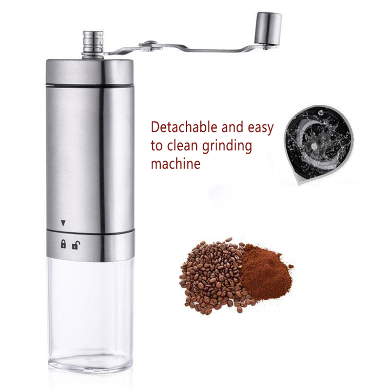 Stainless Steel Manual Coffee Grinder Portable Household Hand Grinder For Espresso