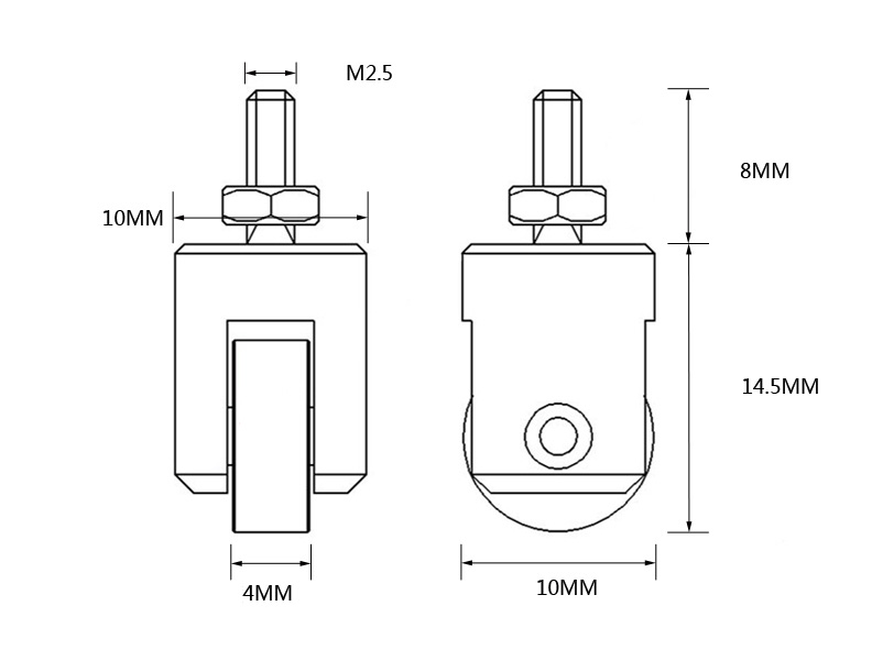 Bike Roller Contact Point for Dial Indicators for Wheel Rim Testing