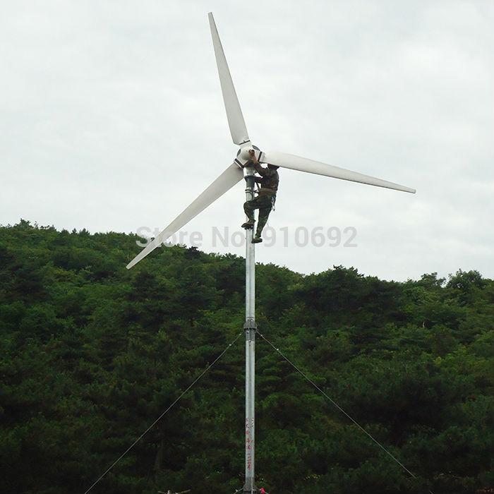 Wind power generation 3kW 120v hotrizontal wind mill home use hight efficient