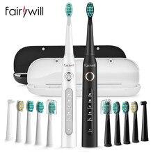 Fairywill FW-507 Sonic Elektrische Tandenborstel 5 Modes Usb Chargeur Tand Borstels Vervanging Minuterie Sonische Tandenborstel