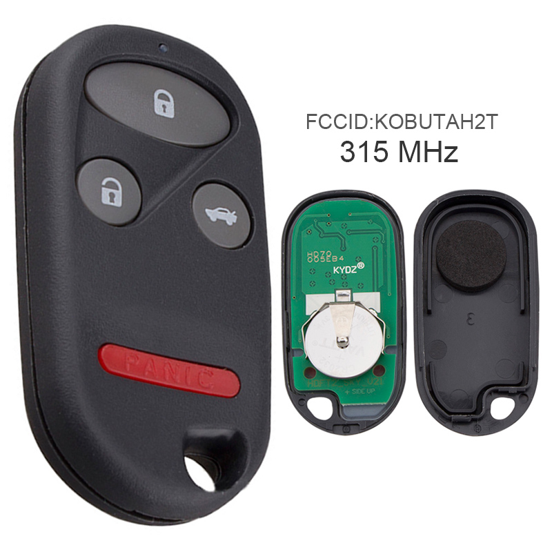 Car Key Replacement 315MHz 3 Buttons Keyless Uncut <font><b>Flip</b></font> <font><b>Remote</b></font> Key Fob KOBUTAH2T for 1998 1999 2000 2001 2002 <font><b>Honda</b></font> <font><b>Accord</b></font> image