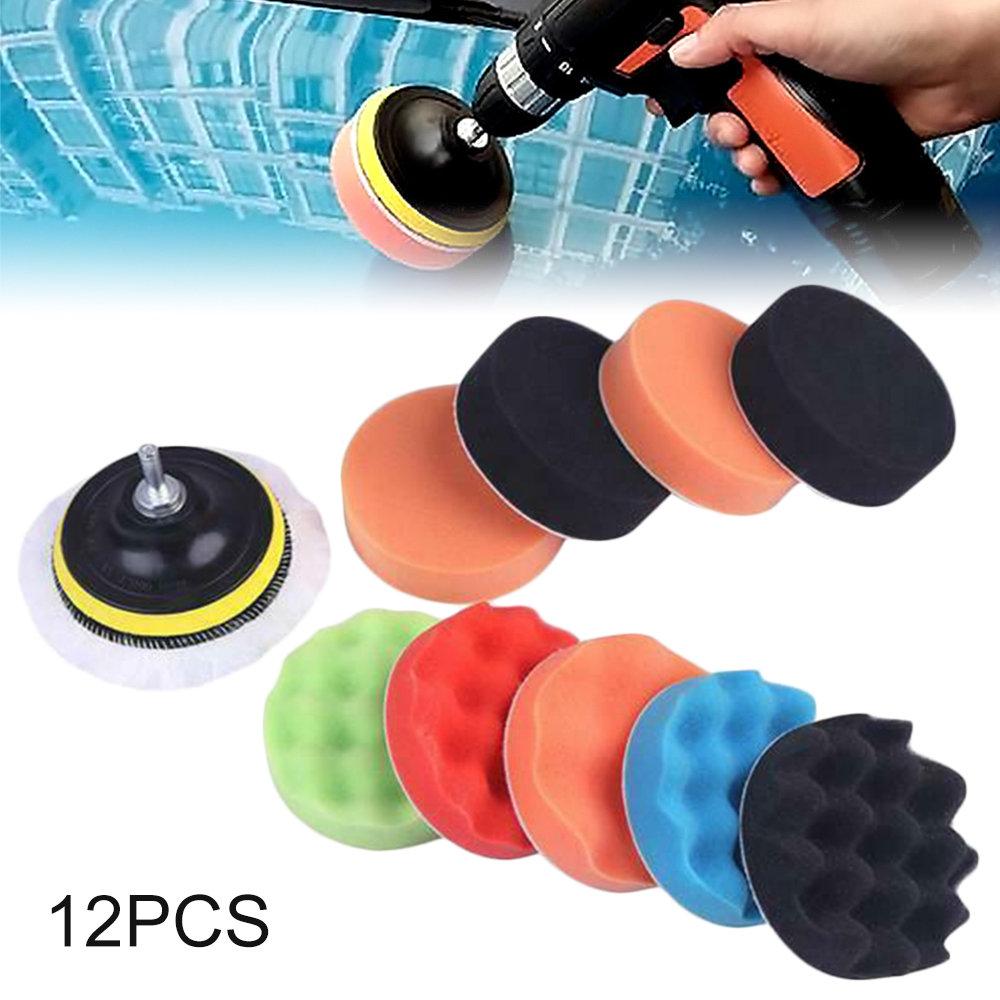 Car-Polisher Waxing-Pads Sponge Buffer-Drill Boat Buffing-Kit 3inch Scratches for Removes