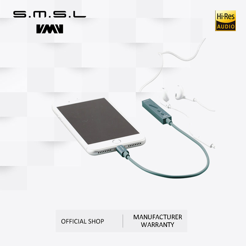 SMSL Icon Portable  Amp Lightning Input Decoder DAC/Amplifier and Headphone Amplifier Built in Microphone for iPhone iPad IOS|microphone microphone|microphone for ipad|amplifier dac - title=